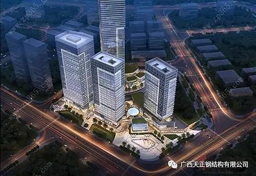 中高层钢混结构---南宁五象世茂国际中心项目