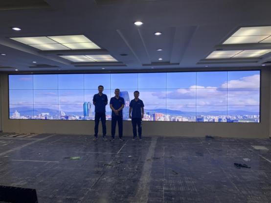辽宁省某职能部门49寸 3X9拼接屏项目完美收官