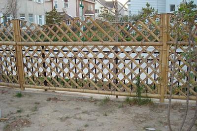 竹篱笆成品图