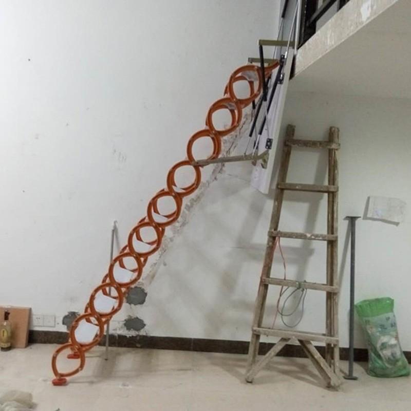 碳钢伸缩阁楼楼梯