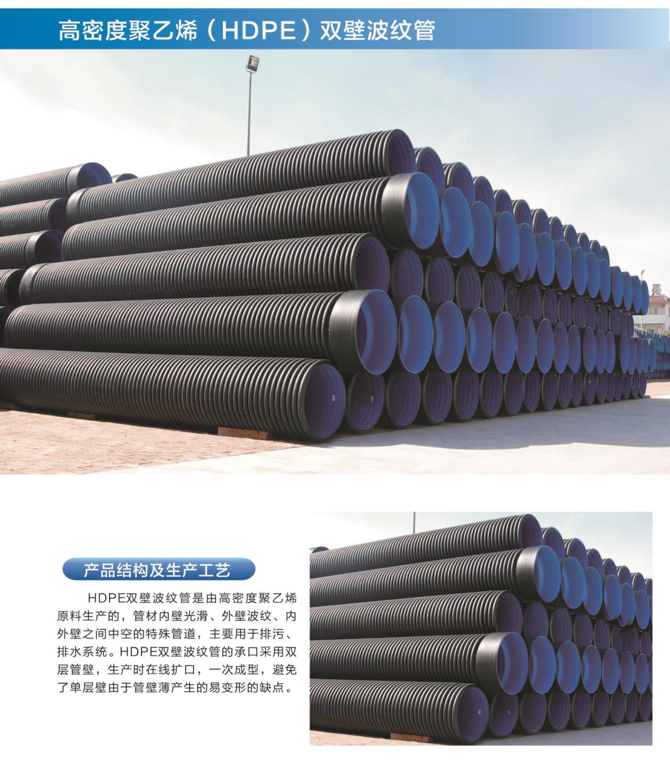 高密度聚乙烯(HDPE )双壁波纹管