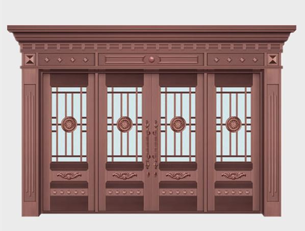 别墅玻璃铜门定做