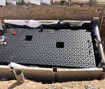 仙居项目雨水回收PP模块施工完毕