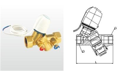 埃美柯平衡阀-DPHF-15~25-L-25T 黄铜电动动态平衡阀