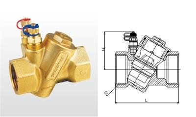 埃美柯平衡阀-PHF-15~50-L-25T 黄铜动态平衡阀