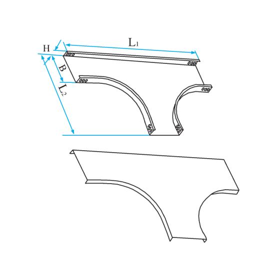 槽式圆弧型水平三通
