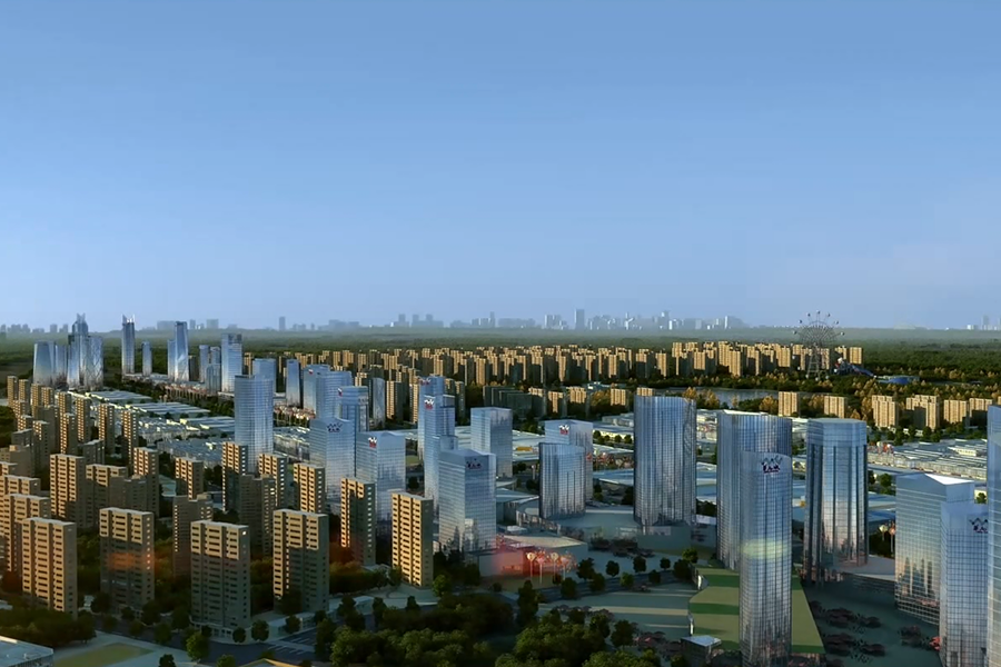 重庆华南城三维建筑动画