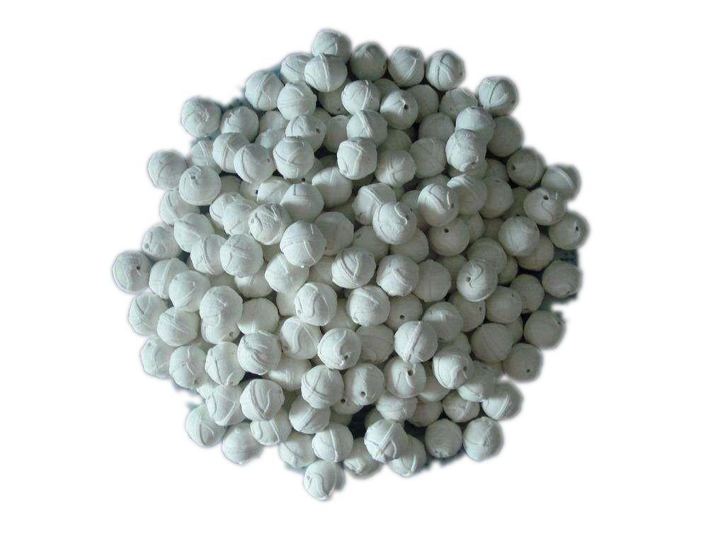 50高铝开孔瓷球,惰性氧化铝瓷球,惰性中铝高铝开孔瓷球