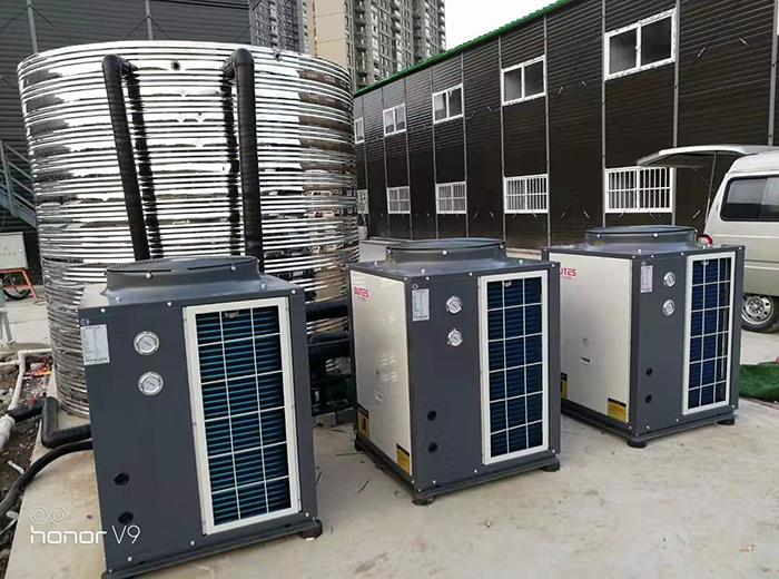 南京葛洲坝地下工程工地空气能热水器工程