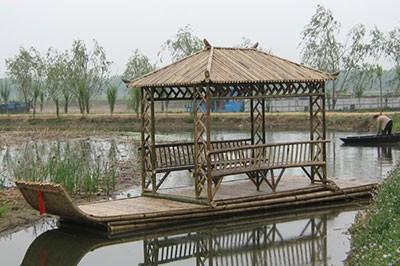 安徽竹筏成品图