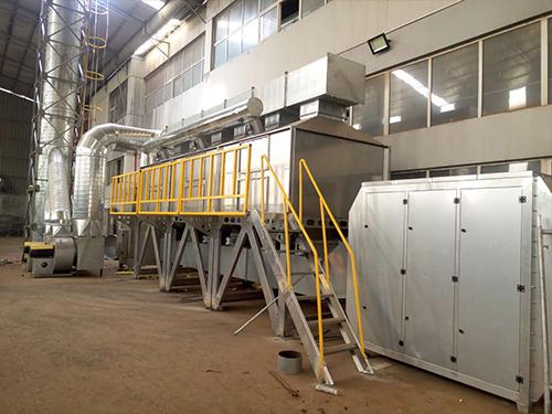 催化燃烧设备催化剂活性组的工艺过程