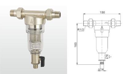埃美柯过滤器-SY21-16T 黄铜反冲洗过滤器