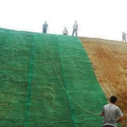绿色防尘土工布施工中
