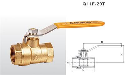 埃美柯球阀-Q11F-20T 黄铜球阀