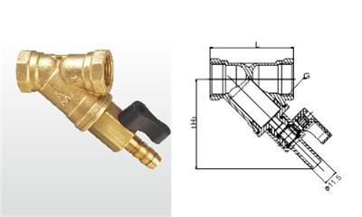 埃美柯过滤器-SY11-16T 黄铜排污过滤器