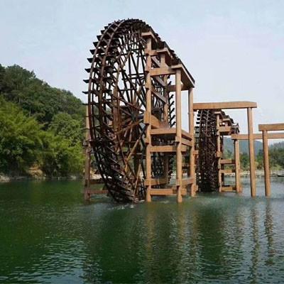 青海生态公园水车安装合作案例