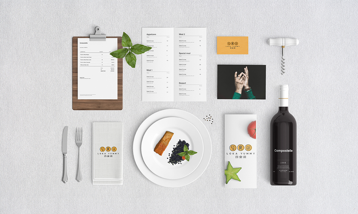 问食间餐饮品牌形象设计