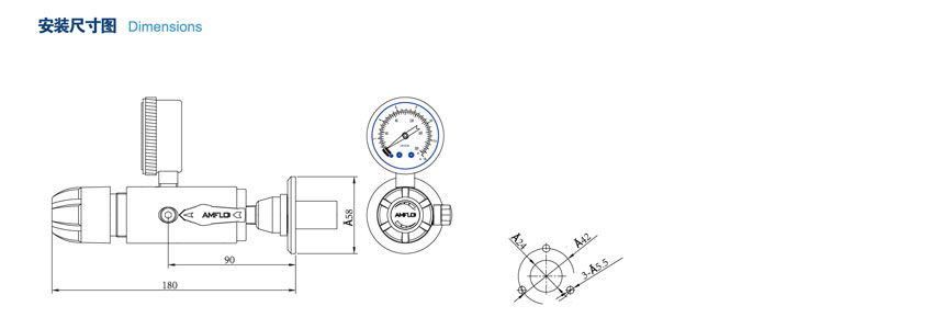 RT10T系列单级小流量减压器的安装方法