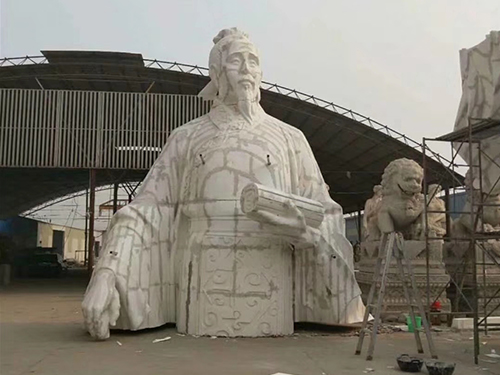 纪念性雕塑厂家谈石雕雕塑常用的材料有哪些