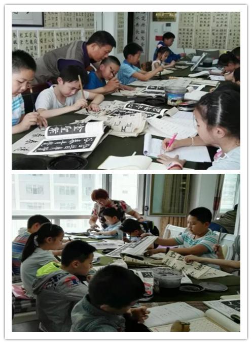 西宁墨宝书法教学基地---名师培训学生学习实用的硬笔(铅笔、钢笔)、毛笔书法