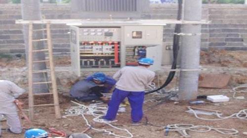 三联建设原锅炉厂变压器安装