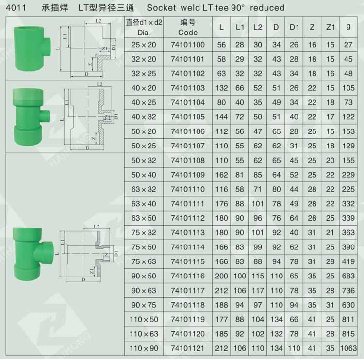承插焊 LT型异径三通