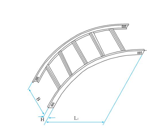 梯级式圆弧形垂直凸弯通