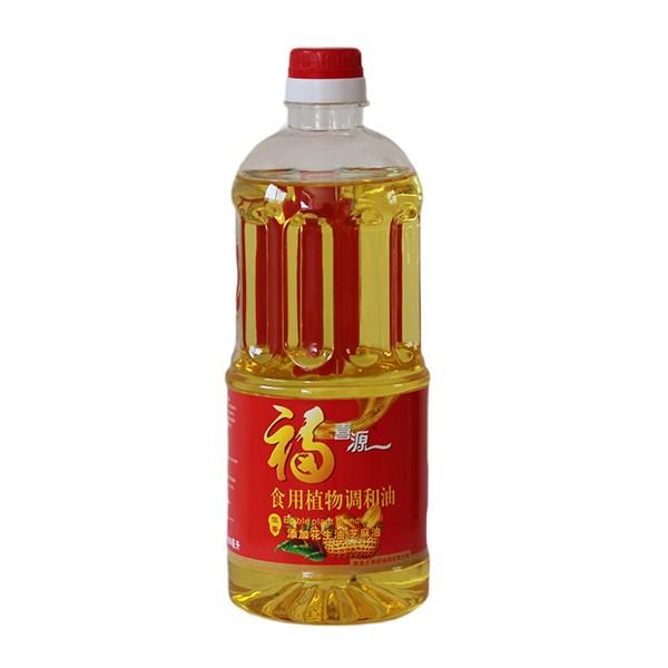 食用植物调和油花生油芝麻油 900毫升