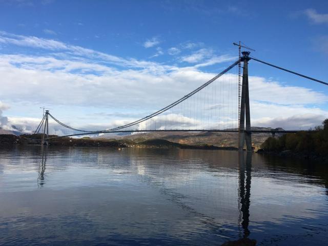 挪威第二大悬索桥正式通车-四川路桥承建,挪威桥,中企造!