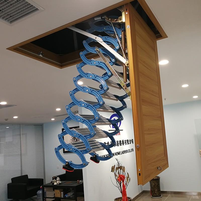 铝镁合金伸缩阁楼楼梯