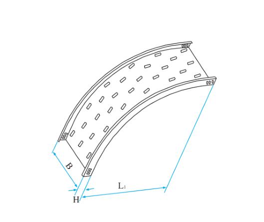 托盘式圆弧型垂直凸弯通