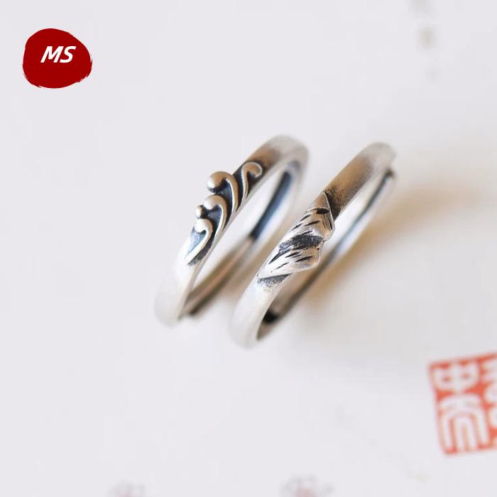 海誓山盟925纯银戒指