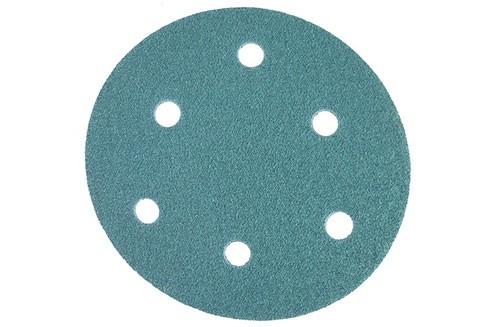 5寸6孔绿色背绒圆盘-氧化铝-80#