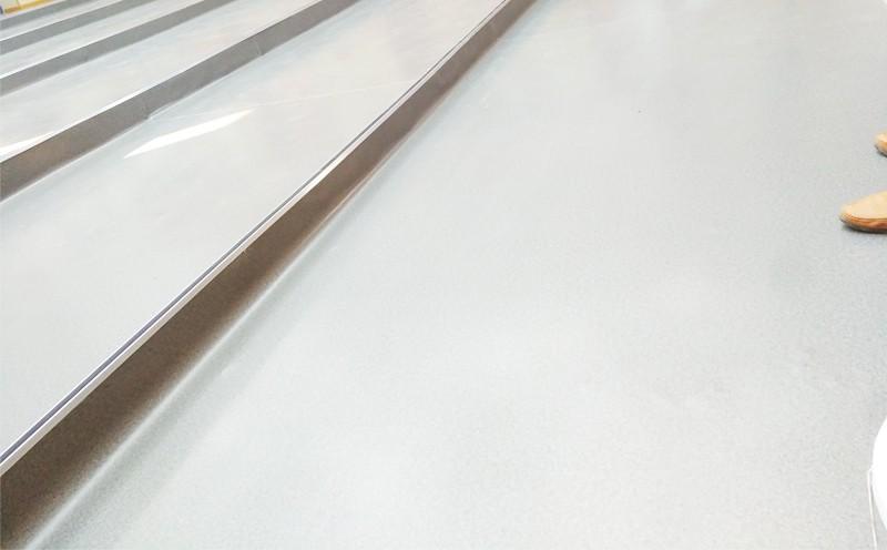 航天中学PVC地胶铺设