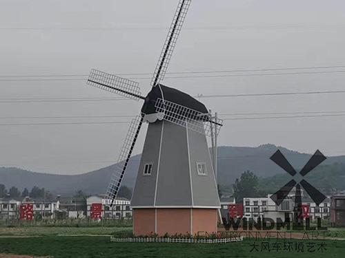 江苏徐州玉带花海荷兰风车