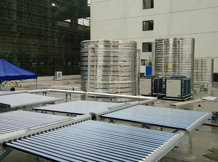 宿州如家国购店空气能热水器+太阳能集热一体设计与安装工程案例