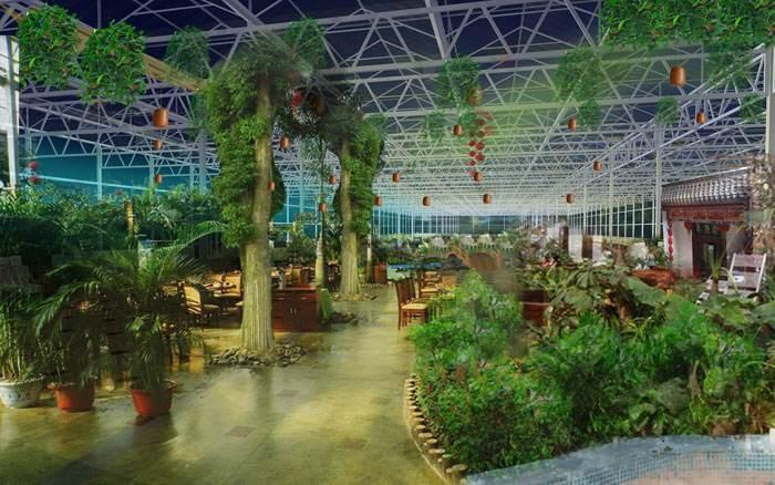 智能玻璃温室生态餐厅