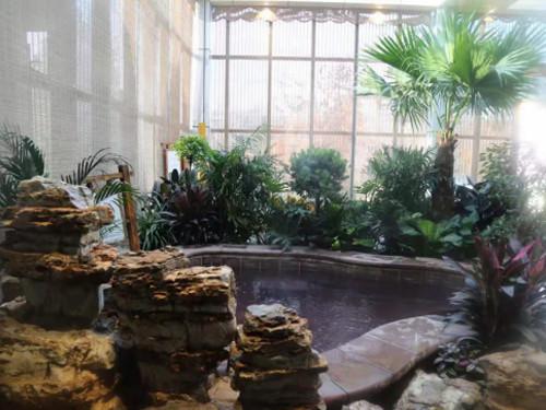 休闲温泉泡池