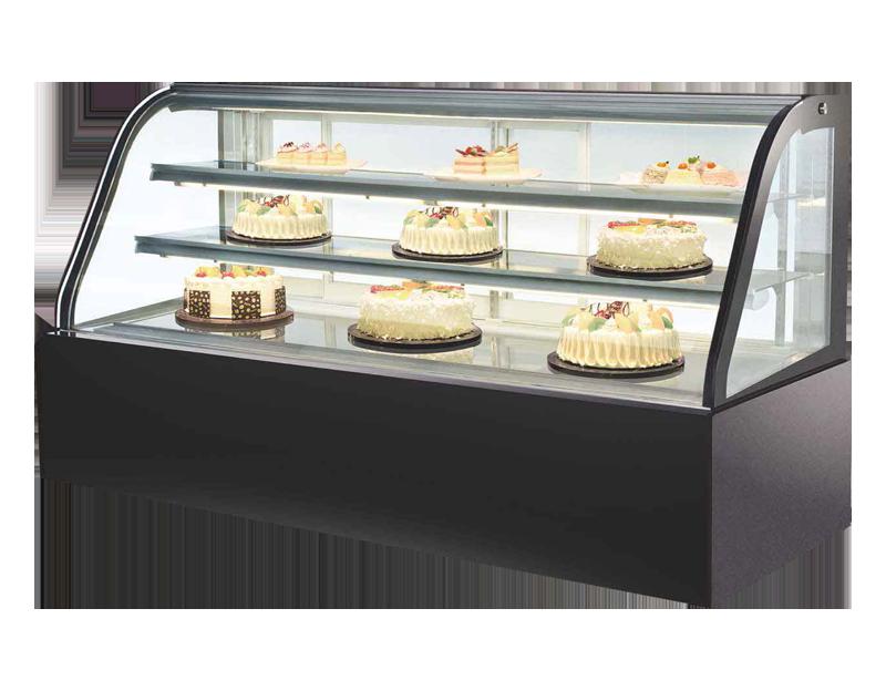 三层圆弧蛋糕柜