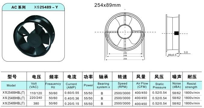 25489轴流风机(圆形)