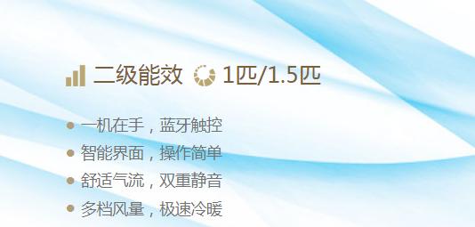 二级/三级能效 1匹/1.5匹 E-MAX小鑫 系列智能壁挂机