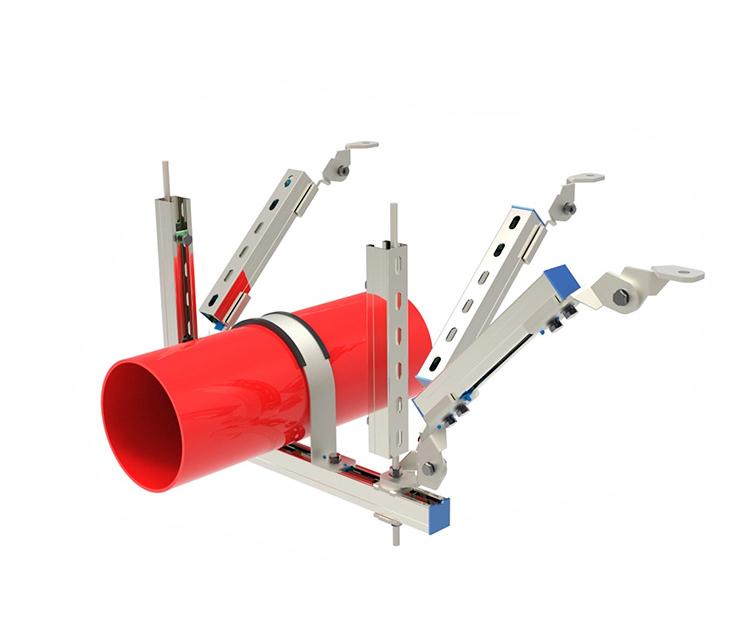 DN200以上单管侧纵向支撑