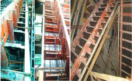 钢模板吊装就位及固定
