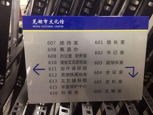 蕪湖市文化館的樓層指示牌