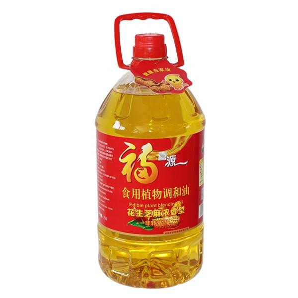 食用植物调和油花生芝麻浓香型 5L