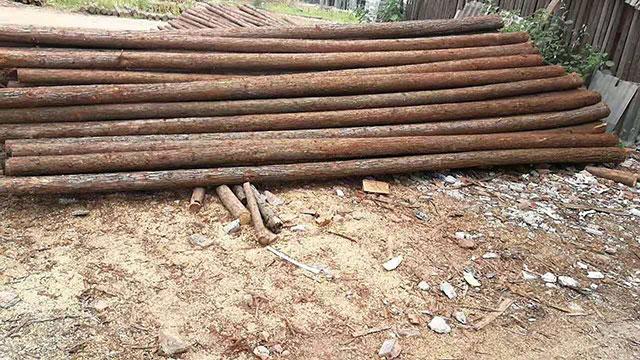 松木桩施工方法简述