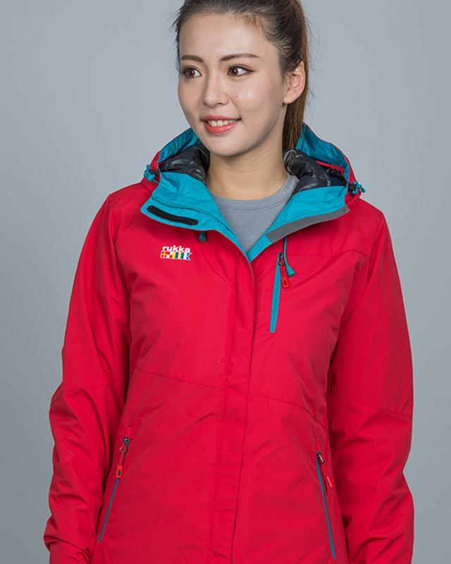 滑雪服-红桔