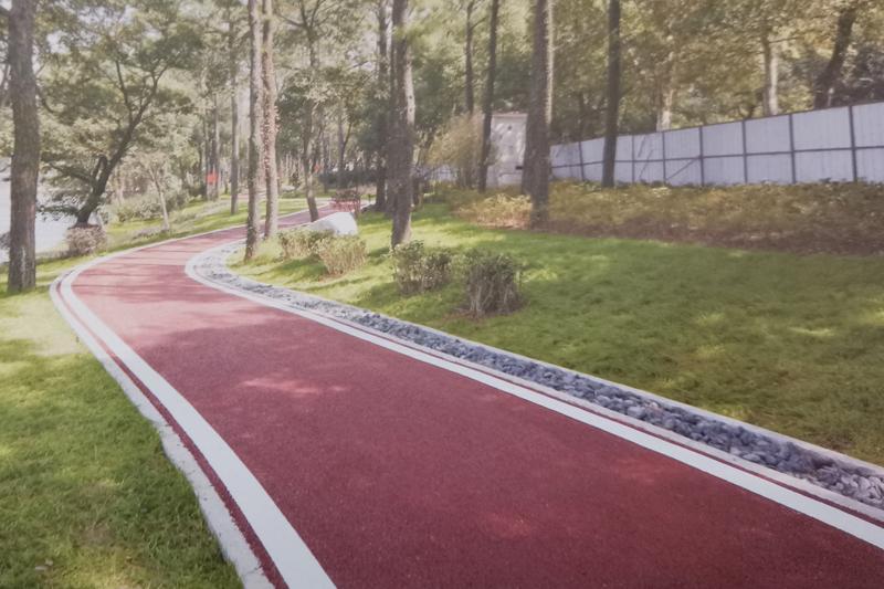 彩色绿道防滑地坪涂装