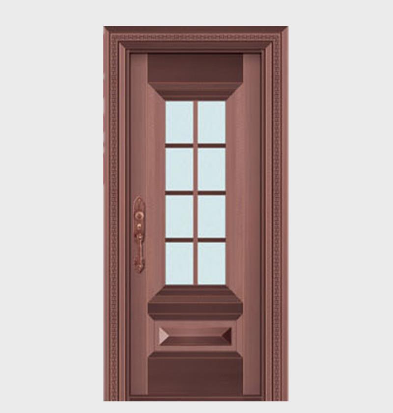 别墅玻璃铜门出售