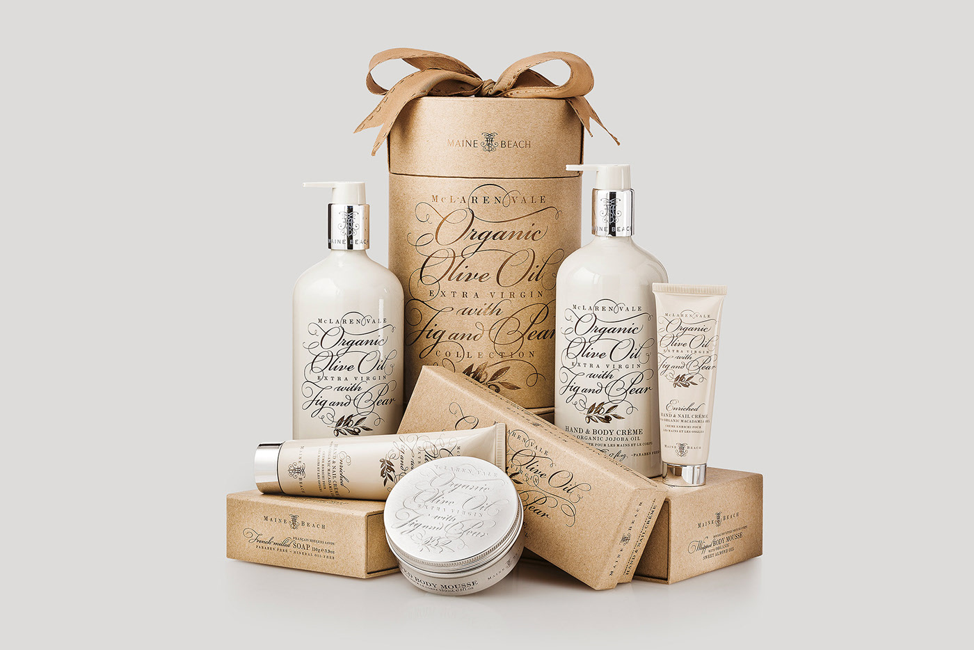 牛皮纸绿色环保化妆品外包装设计定制